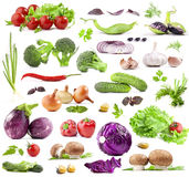 Collection of vegetables stock image
