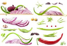 Collection of vegetables Stock Images