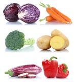 Collection of vegetables bell pepper carrots fresh food vegetabl Royalty Free Stock Photos