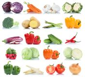 Collection of vegetables bell pepper tomatoes carrots onion fres Royalty Free Stock Image