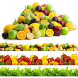Collection of vegetables and fruits Stock Photo