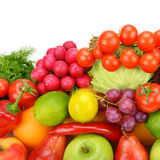 Collection of vegetables and fruits Stock Images
