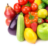 Collection of vegetables and fruits Royalty Free Stock Photo