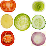 Collection of vegetables on isolated background Royalty Free Stock Photography