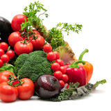 Collection vegetables Stock Images