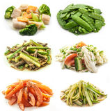 Collection vegetables isolated on white background Stock Photography