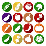 Collection of vegetables set. Vector illustration. Icons Stock Illustration