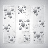 Collection vertical banner design. Molecule and Royalty Free Stock Images