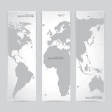 Collection vertical banner design. World Map Stock Image
