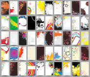 Collection vertical cards. On different topics Stock Image
