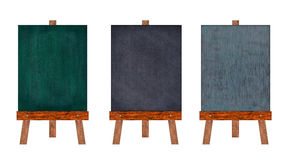 Collection of vertical chalkboard. Royalty Free Stock Photography