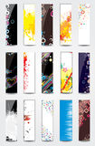 Collection Vertical Headers. On different topics Stock Photos