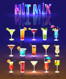 The collection is very popular cocktails. Royalty Free Stock Image