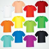 Collection vide colorée de T-shirt. Calibre Images libres de droits