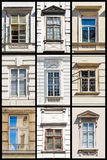 Collection of Vienna Windows Royalty Free Stock Images