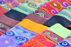 Collection of Vietnamese silk scarfs Royalty Free Stock Photos