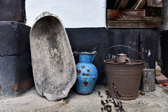 Collection of vintage antique objects Royalty Free Stock Images