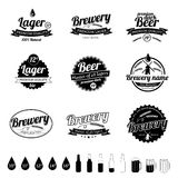 Collection of Vintage Beer Labels Stock Photo