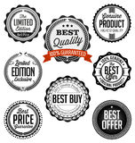 Collection of Vintage Black and White Badges. Best Quality Vector Illustration