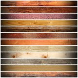 Collection of vintage boards Stock Image