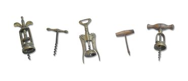 Collection of vintage bottle openers stock image