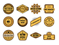 Set of vintage brown labels Stock Images