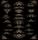 Collection of vintage calligraphic flourishes, curls and swirls decoration for greeting cards,books or dividers. Stock Image