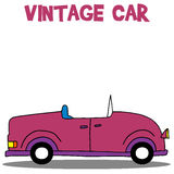 Collection of vintage car vector. Art illustration Stock Images