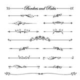 Collection of vintage and classic decorative line elements borde Royalty Free Stock Image