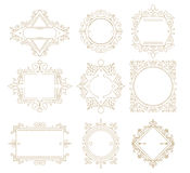 Collection of vintage classic frames. Set frames for your text o Royalty Free Stock Photos
