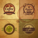 Collection of vintage Coffee labels Royalty Free Stock Photo