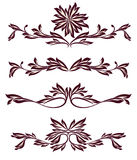 Collection of vintage decoration dividers Stock Photo