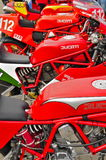 A Collection of Vintage Ducati Motorcycles Royalty Free Stock Images