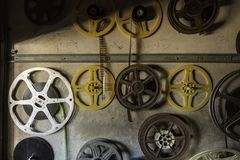 Vintage Film Reels royalty free stock photos