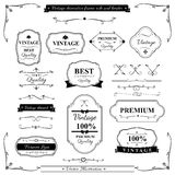Collection of vintage frame border rule and design element 002 Royalty Free Stock Photography