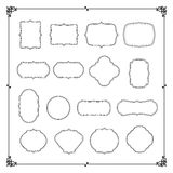 Collection of vintage frame border vector illustration Stock Photography