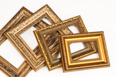 Collection of vintage frame, isolated on white. Stock Photography