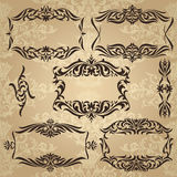 Collection of vintage frames Royalty Free Stock Image