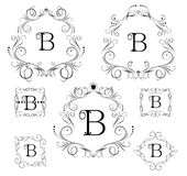 Collection of vintage frames for boutique, restaurant, cafe, hotel, jewelry and fashion Stock Image