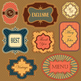 Collection of vintage frames and labels Stock Images