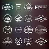 Collection of vintage hand drawn premium quality badges and stickers for designers. Stock Images