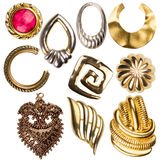 Collection of vintage jewelry Royalty Free Stock Photo
