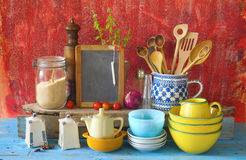 Collection of vintage kitchenware, Royalty Free Stock Images
