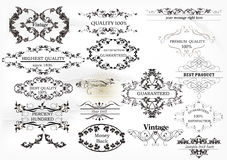Collection of vintage labels Royalty Free Stock Photography