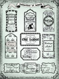 Collection of vintage labels for design.Victorian. Style Royalty Free Stock Photography