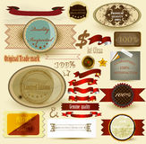 Collection of vintage labels and ribbons for design Royalty Free Stock Photo