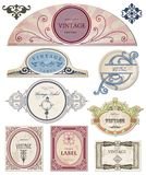 Collection vintage labels  for your design. Vector Stock Photos
