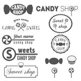 Collection of vintage logo and logotype elements Stock Photo