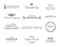 Collection of vintage elements royalty free illustration
