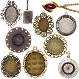 Collection of vintage pendants Stock Images